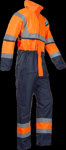 Sioen Cabin Signalisatie Winter Regenoverall-S-Fluo Oranje/Marine