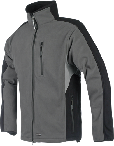 Sioen Pular Fleece Jas-S-Grijs/Zwart/Grijs