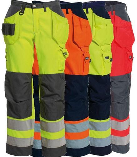 Tranemo Dames Werkbroek Hi-Vis 485944-36-Oranje/marine