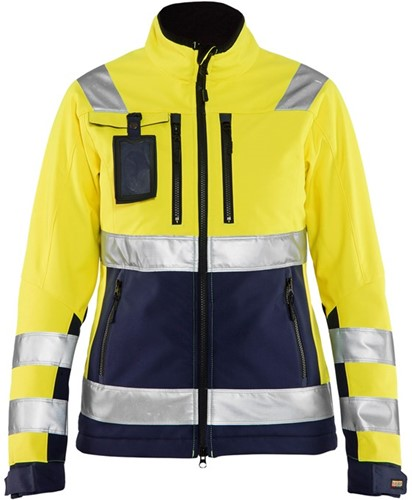 Blaklader 49022517 Dames Softshell jack High Vis