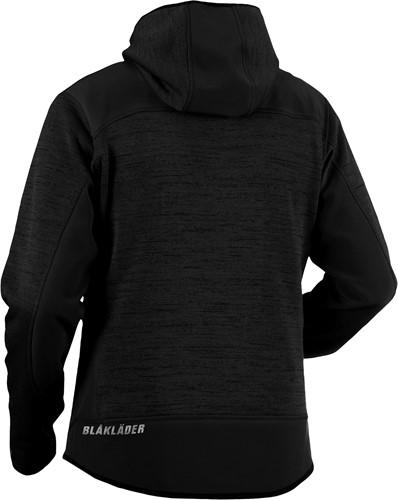 Blaklader 49302117 Gebreid vest met softshell-XXS-Donkergrijs/Zwart-2