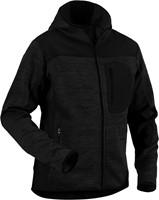 Blaklader 49302117 Gebreid vest met softshell-XXS-Donkergrijs/Zwart