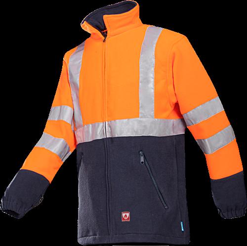 Sioen Rainier Vlamvertragende Signalisatie Fleece-S-Fluo Oranje/Marine