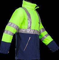 Sioen Kingley Signalisatie Fleece Jas-XS-Fluo Geel/Marine-2