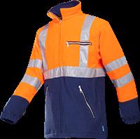 Sioen Kingley Signalisatie Fleece Jas-XS-Fluo Oranje/Marine-1