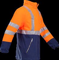 Sioen Kingley Signalisatie Fleece Jas-XS-Fluo Oranje/Marine-2