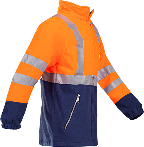 Sioen Kingley Signalisatie Fleece Jas-XS-Fluo Oranje/Marine