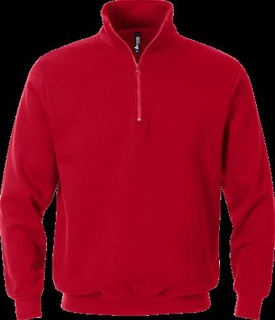 Acode Sweater met korte rits-Rood-XS
