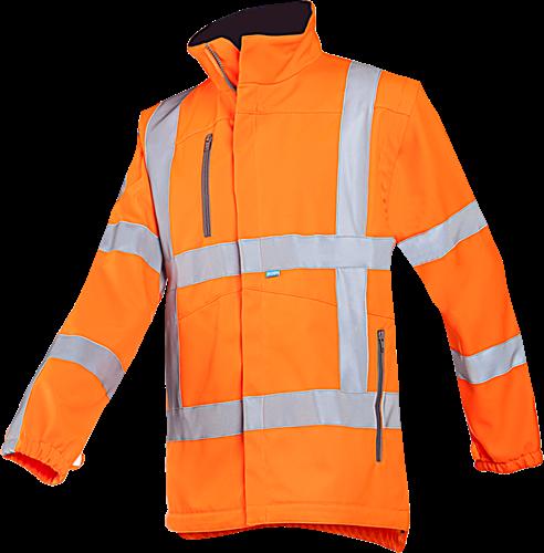 Sioen Alphen Signalisatie Softshell met uitritsbare mouwen (RWS)-S-Fluo Oranje
