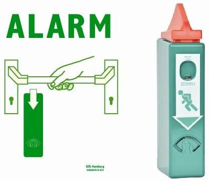 Exit control met vooralarm voor antipaniekbalk