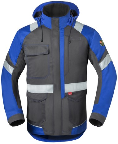 Havep 5safety Image Parka-S-Charcoal grijs/korenblauw