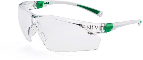 Dynamic Safety Bril 506 wit/groen Lens clear