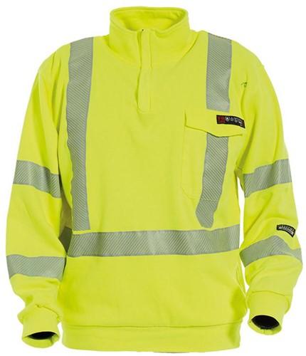 Tranemo Sweater Vlamvertragend Hi-Vis 507089-Geel-XS