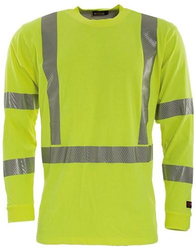 Tranemo T-Shirt Lange Mouw Vlamvertragend Hi-Vis 507289-Geel-XS