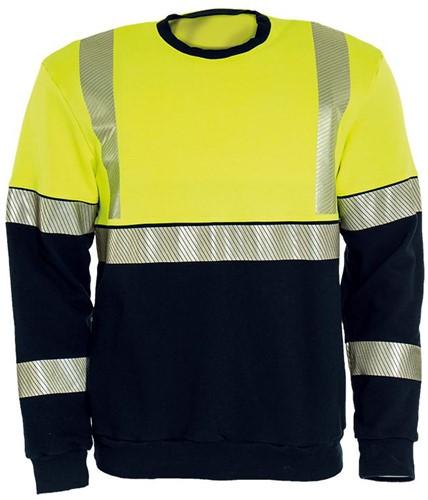 Tranemo Sweater Vlamvertragend Hi-Vis 507089-XS-Geel/Marine