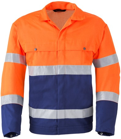 Havep High Visibility Jack/Blouson-H46-Marineblauw/fluo oranje
