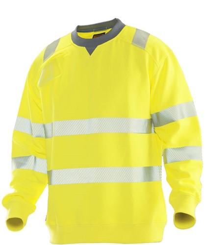 Jobman 5123 Sweatshirt Hi-Vis geel