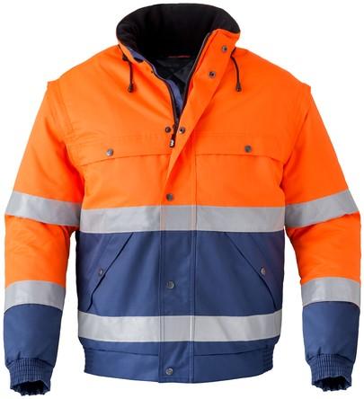 Havep High Visibility All season jack-XXL-Marineblauw/fluo oranje