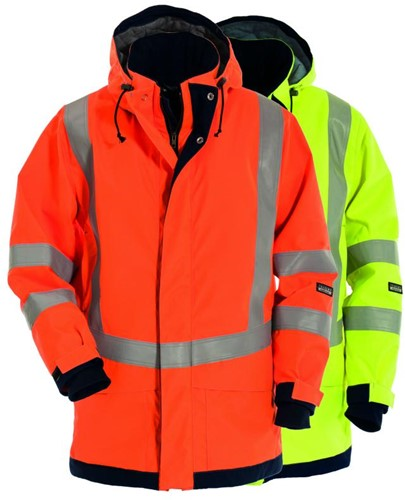 Tranemo Winterparka Vlamvertragend Hi-Vis FR 530084-Oranje-XS