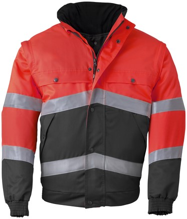 Havep High Visibility All season jack-XXL-Fluo rood/charcoal grey