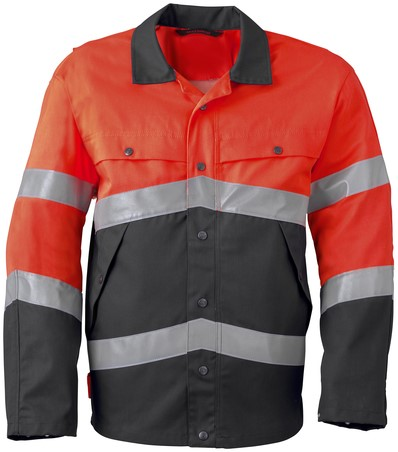 Havep High Visibility Jack/Blouson-H46-Charcoal grey/fluo rood