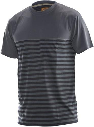 Jobman 5556 Dry Tech T-shirt-XS-Donker Grijs/Zwart
