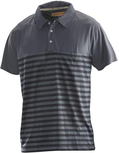 Jobman 5586 Dry Tech Poloshirt Piké-XS-Donker Grijs/Zwart