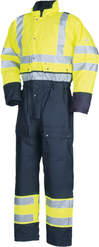 Sioen Rabaul Signalisatie Winter Regenoverall-S-Fluo Geel/Marine
