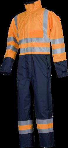 Sioen Geralton Vlamvertragende en Antistatische Signalisatie Regenoveral-S-Fluo Oranje/Marine