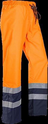 Sioen Gladstone Vlamvertragende en Antistatische Signalisatie Regenbroek-XS-Fluo Oranje/Marine