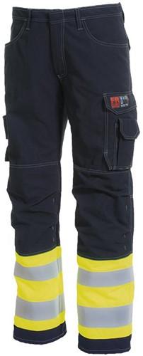 Tranemo DoorWerkbroek TeraTX Vlamvertragend Hi-Vis 582381-C44-Geel/Marine