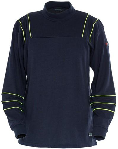 Tranemo T-Shirt Lange Mouw Vlamvertragend 594889-Marine-XS