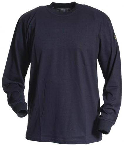 Tranemo T-Shirt Lange Mouw Vlamvertragend 594989-Marine-XS