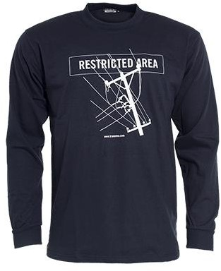 Tranemo T-Shirt Lange Mouw Vlamvertragend 595089-Marine-XS
