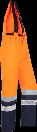 Sioen Glisy Signalisatie Bavetbroek-S-Fluo Oranje/Marine