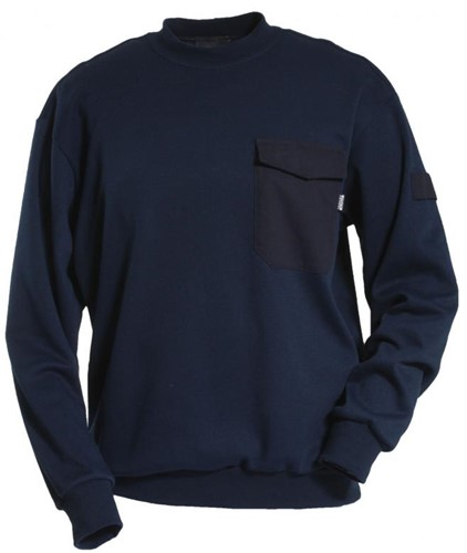 Tranemo Sweater Vlamvertragend 598589-Marine-XS