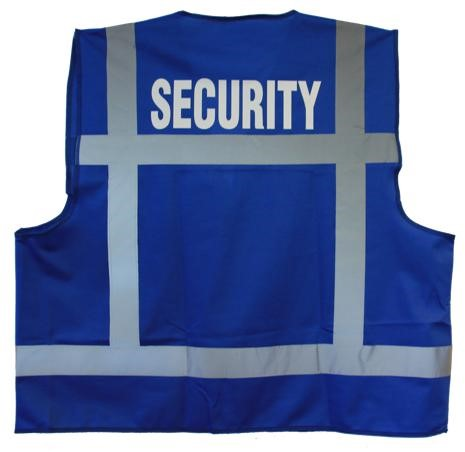 ATV Veiligheidsvest XXL blauw opdruk SECURITY