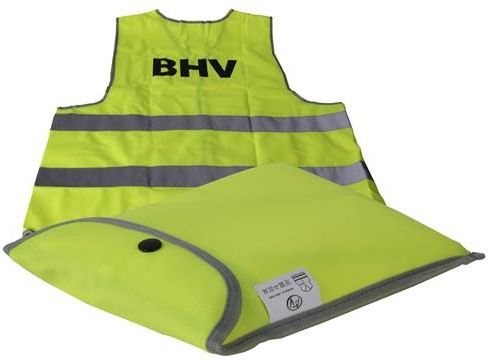 ATV veiligheidsvest XXL opdruk BHV geel-2 str in tasje