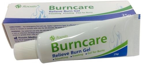 Burncare gel in tube 25 gram