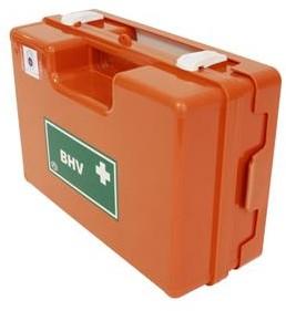 BHV verbandkoffer Oranje Kruis richtl met wandhouder