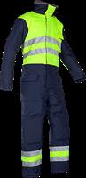 Sioen Balley Signalisatie Diepvries Overall-S-Fluo Geel/Marine-1