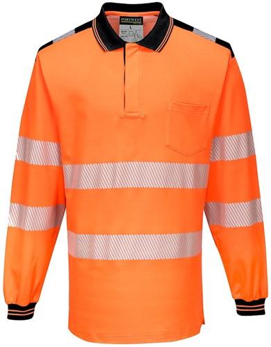 Portwest T184 PW3 Hi-Vis Polo Shirt  L/S