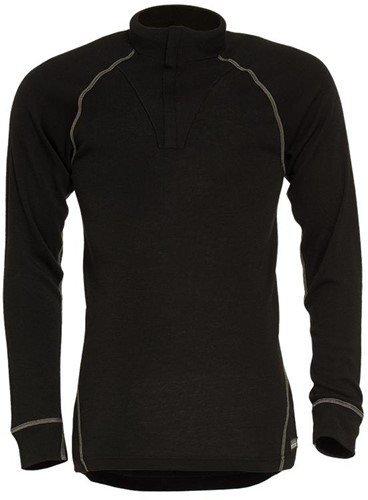 Tranemo Poloshirt met Rits Vlamvertragend 631990-Zwart-XS