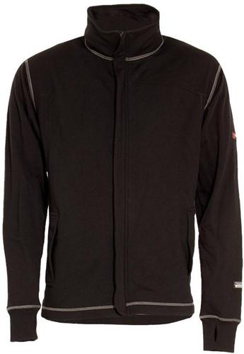 Tranemo Sweater met Rits Vlamvertragend 633090-Zwart-XS