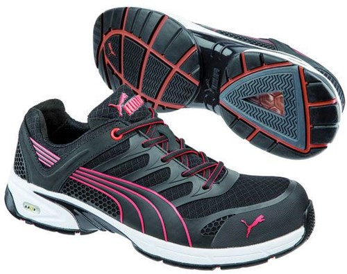Puma Safety Fuse Motion Low S1P 642540 - Zwart/Rood