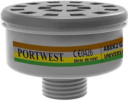 Portwest P926 ABEK2 Filter Uni Tread  (4 stuks)