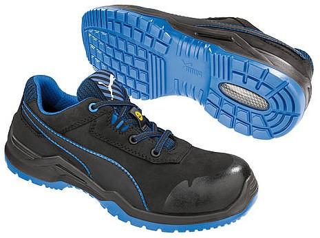 Puma Safety Argon Low S3 ESD 644220 - Zwart/Blauw