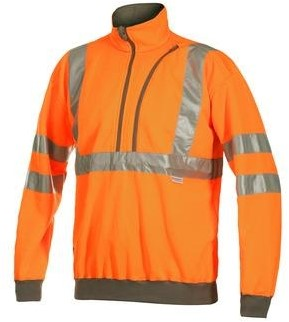 Projob 6102 Sweat T-shirt High-vis CL 3-Oranje-XS
