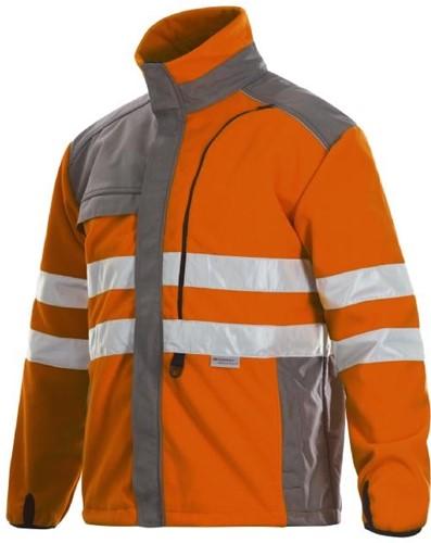 Projob 6302 ADV Fleecejas High-vis-Oranje-XS