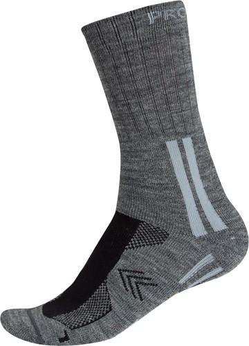 Projob 9027 Lange Wollen Sokken-Grijs-36-39